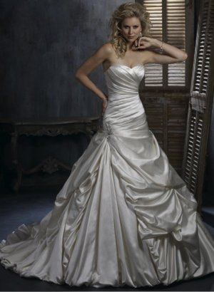 satin rhinestone wedding dress 2011 EC29