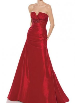fashion taffeta red Prom dresses 2011 EP13
