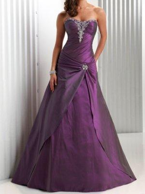 fashion taffeta purple Prom dresses 2011 EP14