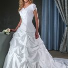 latest style short sleeve long wedding dress 2011 EC107