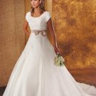 new collection short sleeve lace wedding dress 2011 EC116