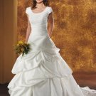 new collection short sleeve lace long wedding dress 2011 EC117