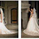 latest style lace beaded wedding dress 2011 EC146