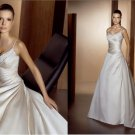 latest style satin beaded wedding dress 2011 EC153