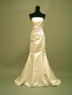 Free shipping simple satin wedding dress 2011 ER1