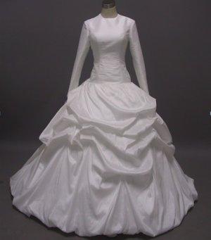 Free shipping long sleeve and high neckline wedding dress ER37