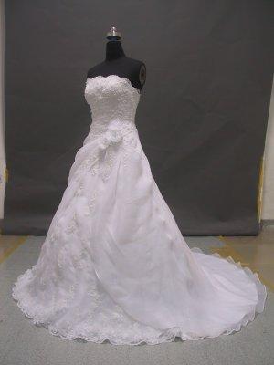 Free shipping organza designer wedding dress ER45