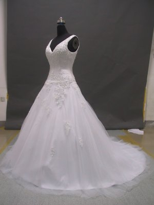 Free shipping two shoulder designer wedding dress ER47