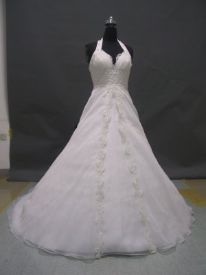Free shipping halter designer wedding dress ER48