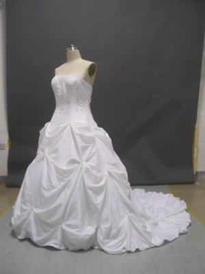 Free shipping plus size wedding dress ER50