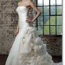 Free shipping fashion ruffle wedding dress 2011 EC159