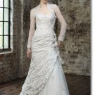 Free shipping fashion lace wedding dress 2011 EC158