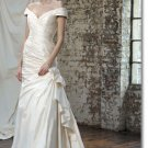 Free shipping fashion taffeta off shoulder wedding dress 2011 EC163