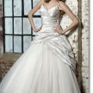Free shipping fashion taffeta spaghetti wedding gown 2011 EC165