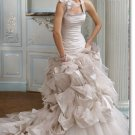 latest style taffeta halter  wedding gown 2011 EC176