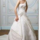 latest style taffeta handmade flower  wedding gown 2011 EC178