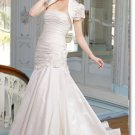 latest style simple taffeta wedding dress 2011 EC181