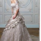 latest style taffeta lace beaded wedding dress 2011 EC182