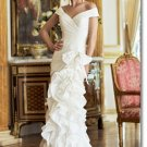 Free shipping designer off shoulder wedding dress 2011 EC197
