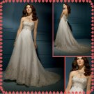Free shipping strapless embroidery rhinestone wedding dresses 2011 EC205