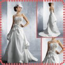 Free shipping strapless lace beaded wedding dresses 2011 EC214