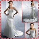 Free shipping strapless simple wedding dresses 2011 EC213