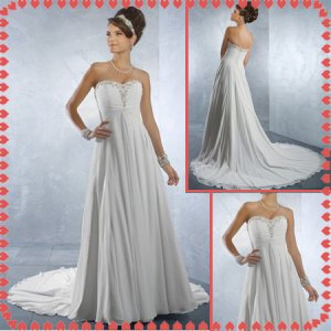 Free shipping chiffon beach wedding dresses 2011 EC222
