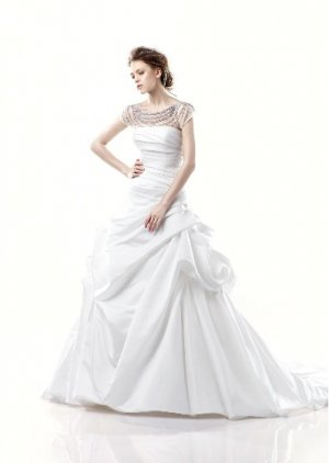 strapless my lady wedding dress EC261
