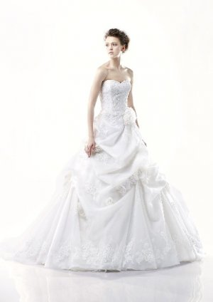 strapless my lady wedding dress EC263