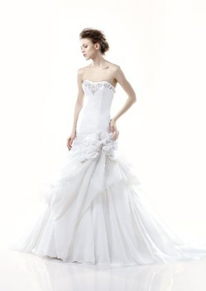 fashion latest style swarovski wedding dress EC283
