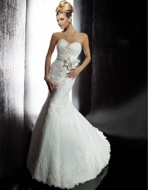 fashion latest swarovski mermaid wedding dress EC291