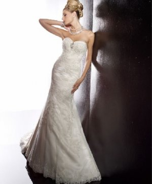 fashion latest swarovski lace mermaid wedding dress EC296