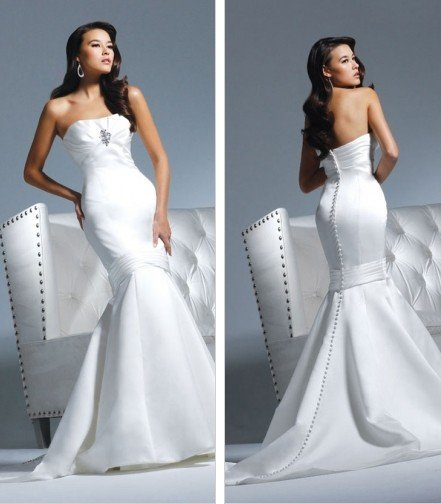 Free shipping new model mermaid wedding dress 2011 EC310