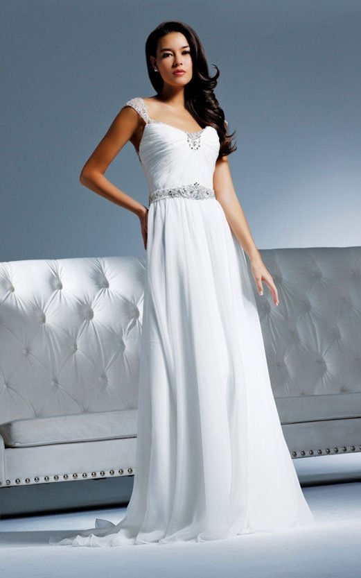 Free shipping new model swarovski  wedding dress cap sleeve lace EC311