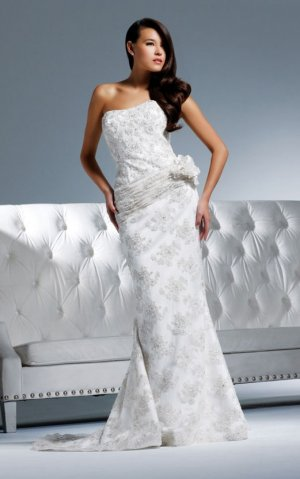 Free shipping new model lace wedding gown EC314