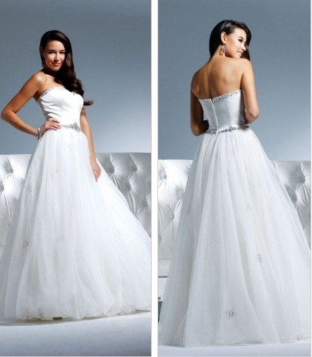 Free shipping new model swaovski and rhinestone wedding gown EC315