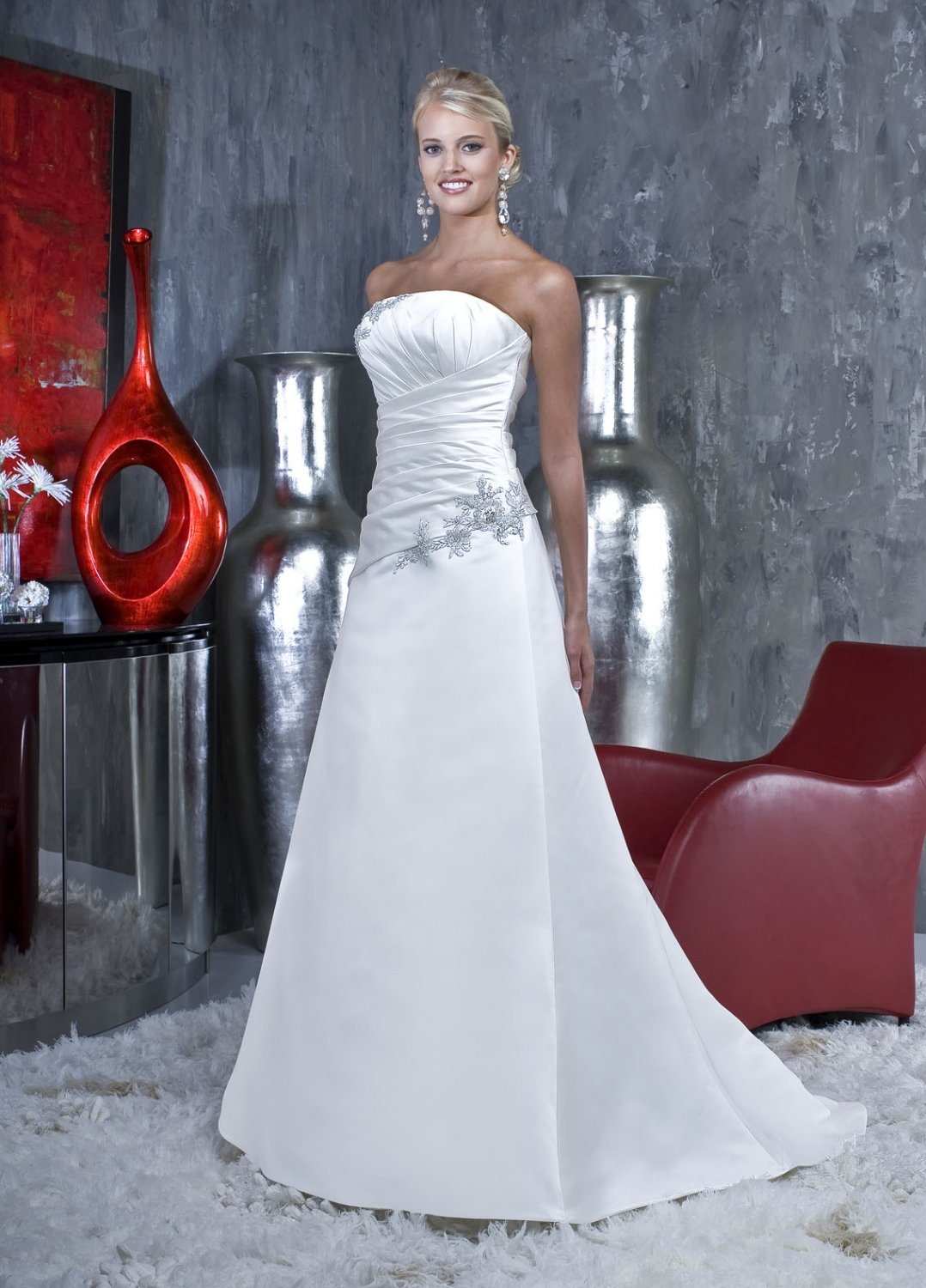 Free shipping new model lace wedding gown EC317
