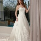Free shipping the latest  one strap swarovski wedding dresses EC342