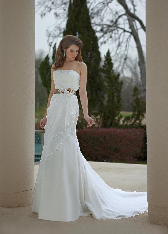 Free shipping the latest fabric flower wedding dresses EC347