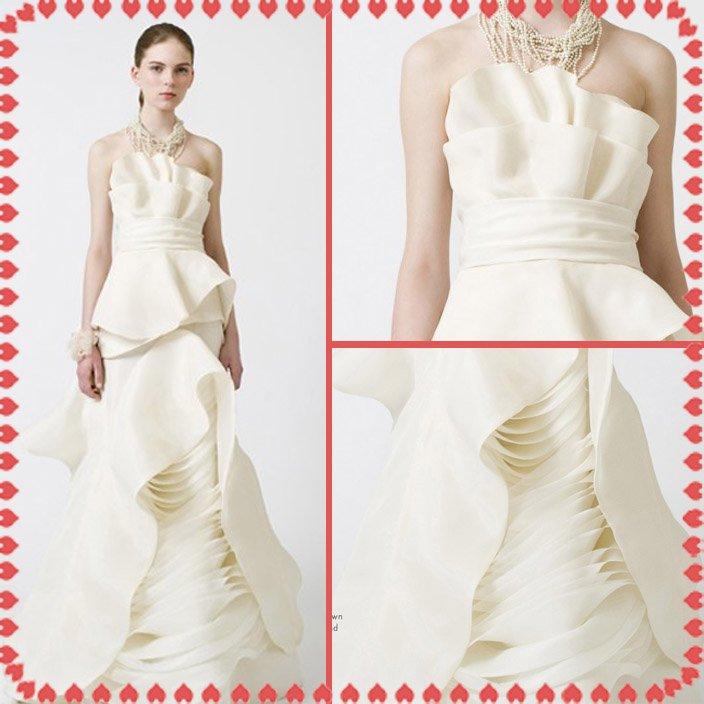 fashion latest style vera wang wedding dress 2011 EC355