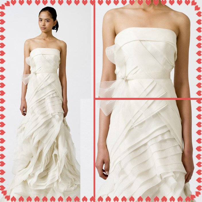 Free shipping fashion  vera wang wedding dress 2011 EC357
