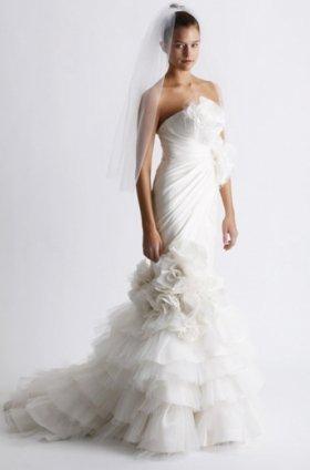 Free shipping fashion  vera wang wedding dress 2011 EC358