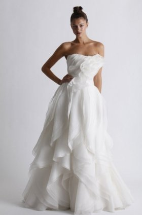 Free shipping fashion  vera wang wedding dress 2012 EC359