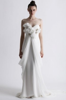 Free shipping fashion  vera wang wedding dress 2012 EC361