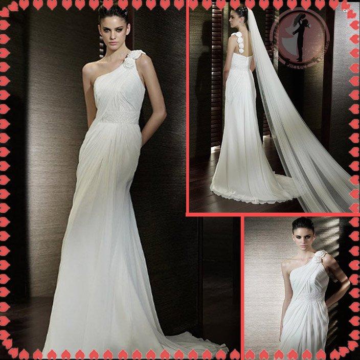 Free shipping latest style vera wang wedding dress 2012 EC371