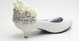 swarovski crystals and rhinestone shiny wedding shoes S001