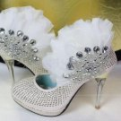 swarovski crystals and rhinestone shiny wedding shoes S003