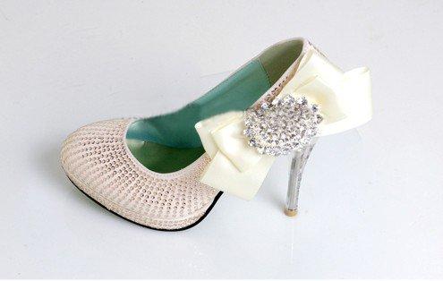 swarovski crystals and rhinestone shiny wedding shoes S006
