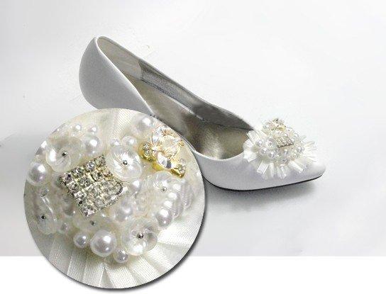 swarovski crystals and rhinestone shiny wedding shoes S007