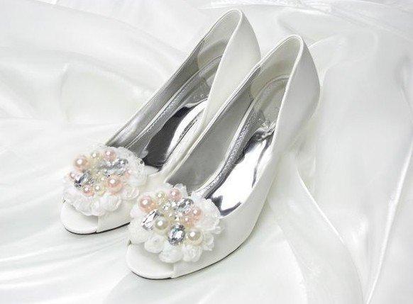 swarovski crystals and rhinestone shiny wedding shoes S008